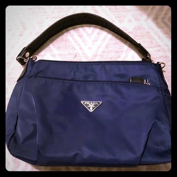 c4ea4a3ec54303 ... discount nylon prada purse navy blue never used 5fa05 2b32e ...